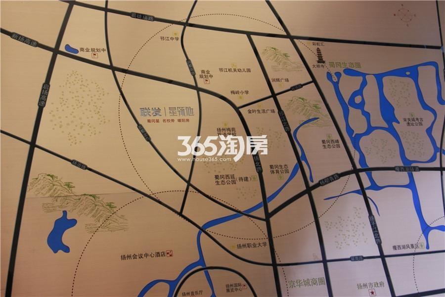 联发星领地交通图