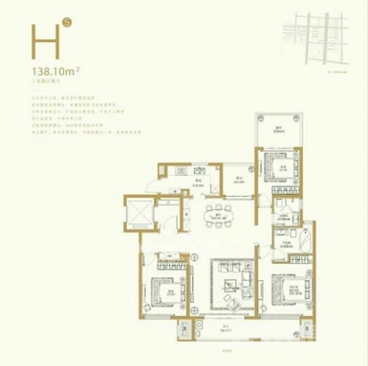 升龙公园道3室2厅2卫138平米整租精装