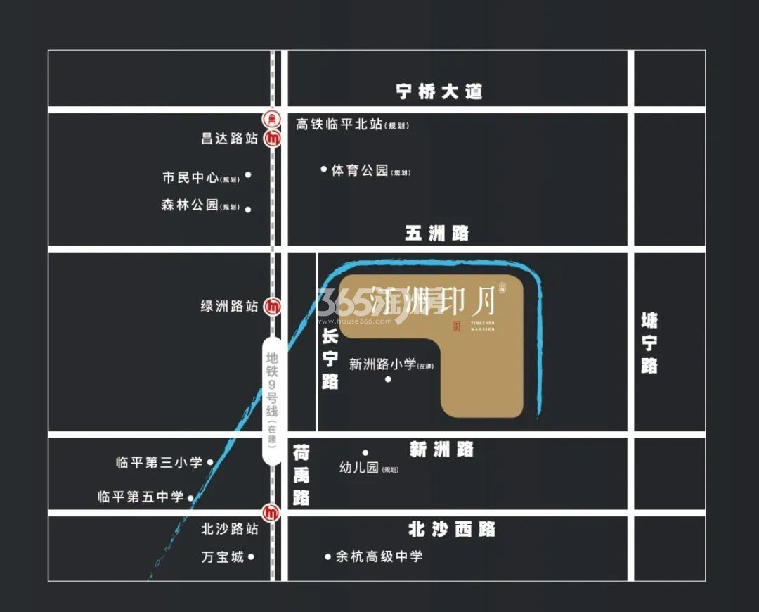 中天汀洲印月交通图