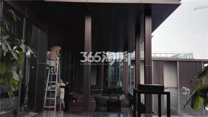 安建翰林天筑售楼部一角实景图(12.03)