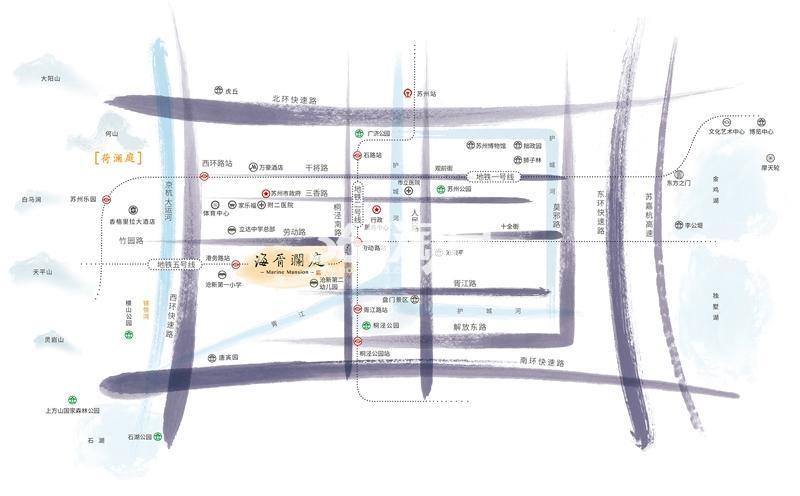 海胥澜庭交通图