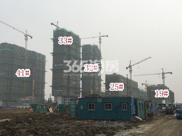 恒大观澜府B地块整体实景图(2018.2 摄)