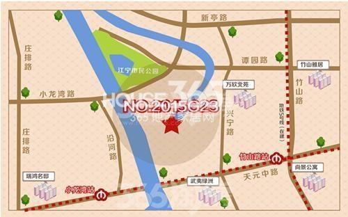 龙湖春江郦城交通图