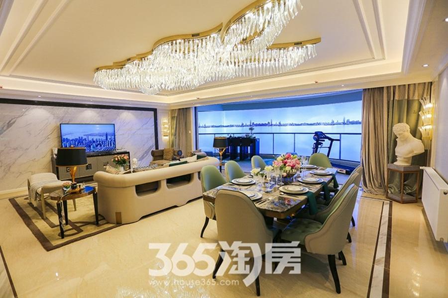 伟星长江之歌二期天誉江川约270㎡样板间-餐厅客厅