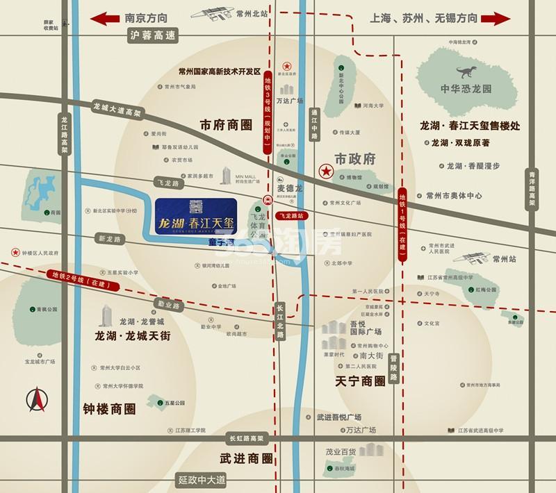 龙湖春江天玺实景图