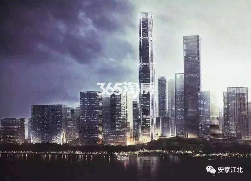 绿地江北G41地块550m高楼效果图