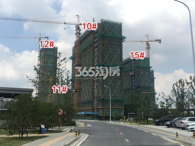 中锐星公元10-12#、15#楼工程进度实景(2018.8摄)