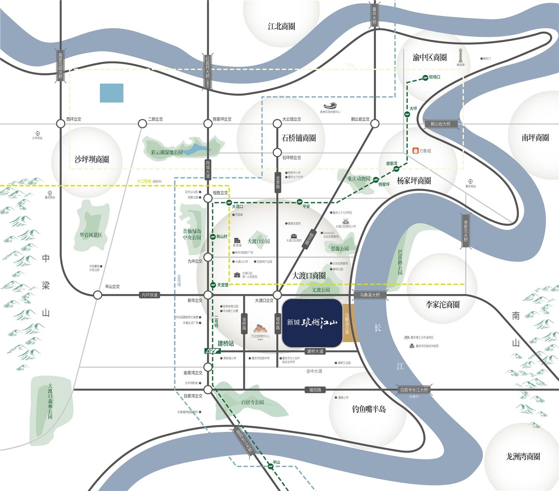 新城琅樾江山交通图