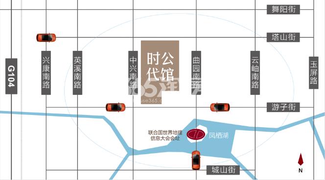 时代公馆交通图