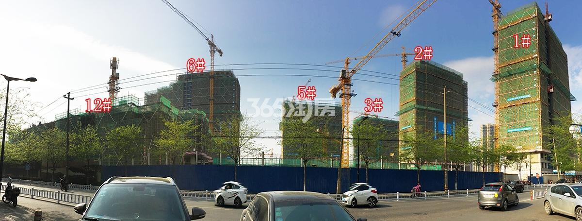 2018年3月31日首开杭州金茂府1-3、5、6、12号楼全景