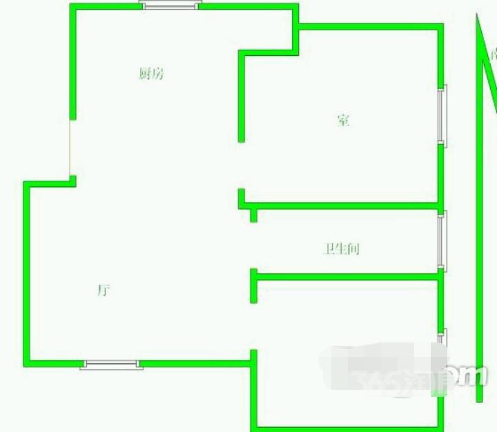 东郊小镇2室2厅1卫83平米产权房精装带家电和家具