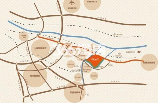 富力又一城交通图