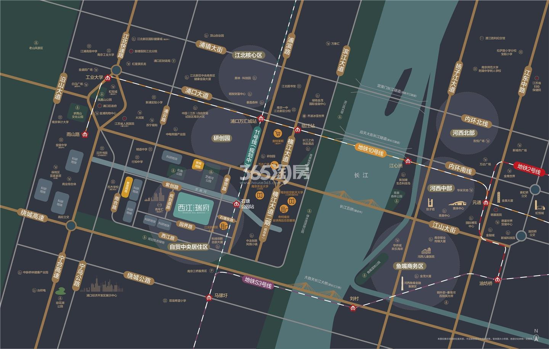 西江瑞府交通图