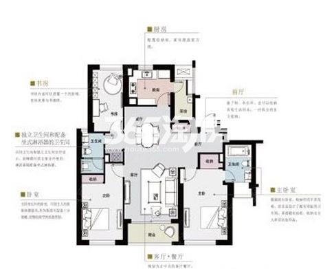 姑苏裕沁庭锦苑户型图168平