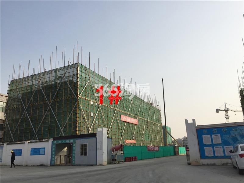 绿地理想城悦湖公馆在建1#楼实景图(2.18)
