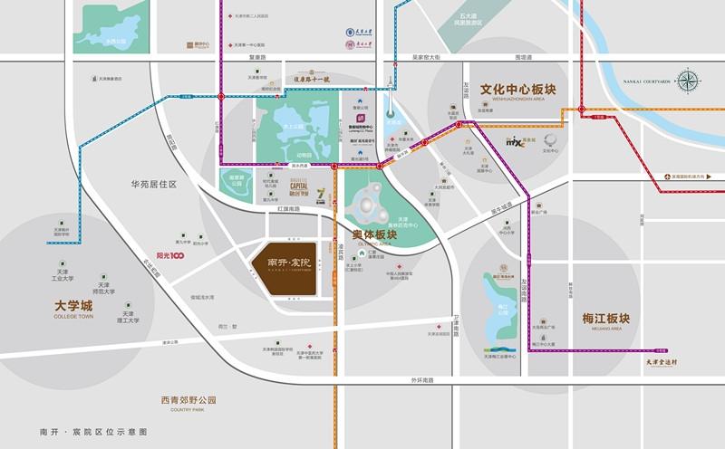 南开宸院交通图