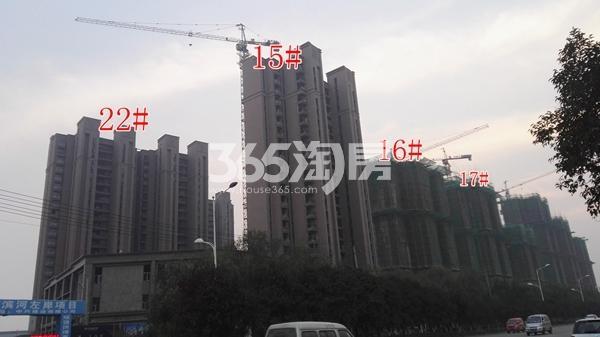 恒大滨河左岸二期部分楼栋工程实景(11.8)