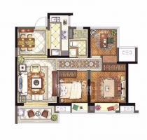 保利西江月3室1厅1卫267万元88平方