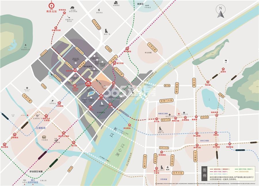 江北·万象企业中心交通图