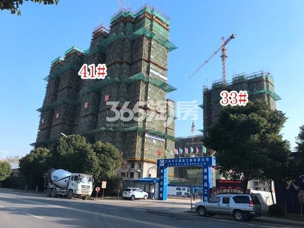 恒大观澜府高层33#、41#楼实景图(2017.12 摄)