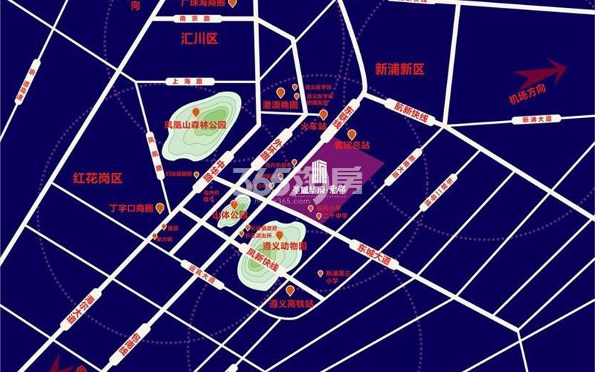 圣城华府·紫郡交通图