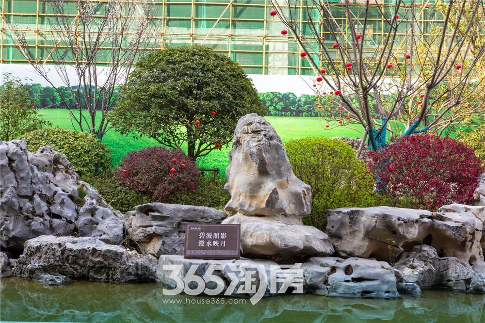 华强江山府营销中心实景图,绿荫葱葱(2020.4月摄)