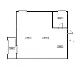 <font color=red>峨嵋公寓</font>56平米整租精装~地铁学校医院附近