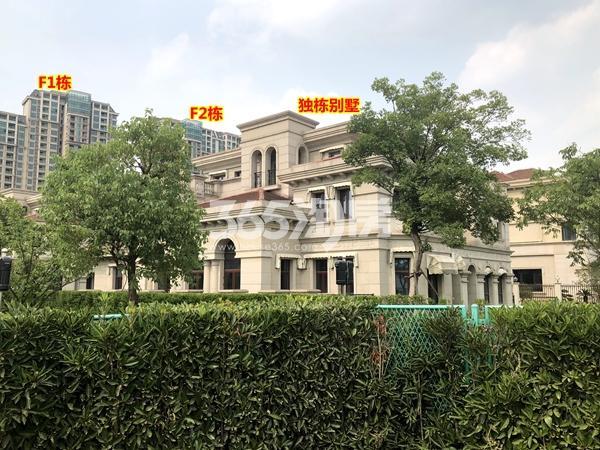 蠡湖一号二期F1栋、F2栋高层、沿河独栋别墅现房实景(2018.6摄)