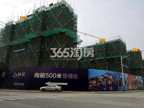 新力帝泊湾22#、23#、24#楼小高层工程进度实景(2018.6摄)
