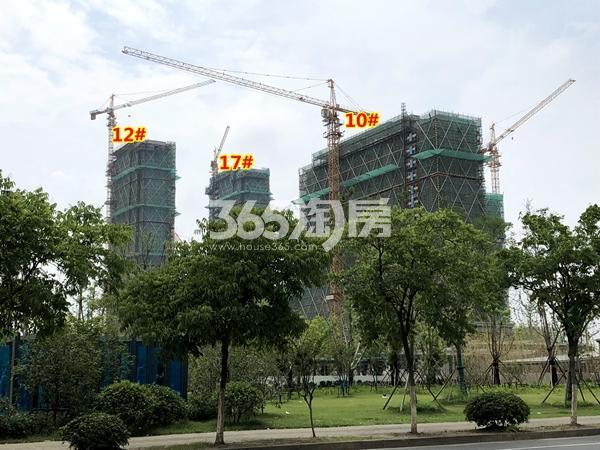 中锐星公元10#、12#、17#楼工程进度实景(2018.6摄)