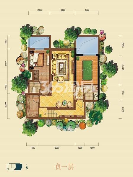 金泰新理城6+1室6厅5卫301.11㎡户型图(负一层)