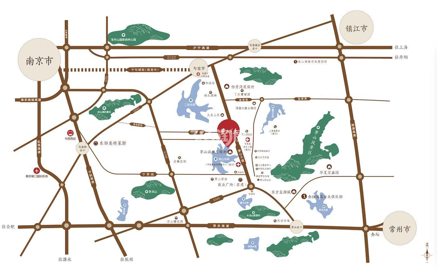 茅山半岛交通图