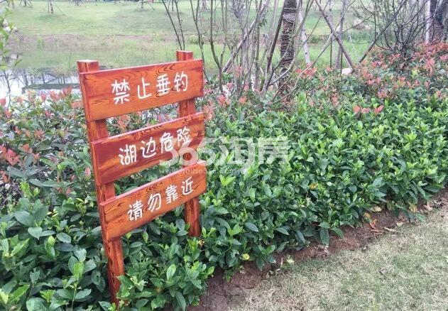 美好紫蓬山壹号公园指示实景图(2018.2.5)