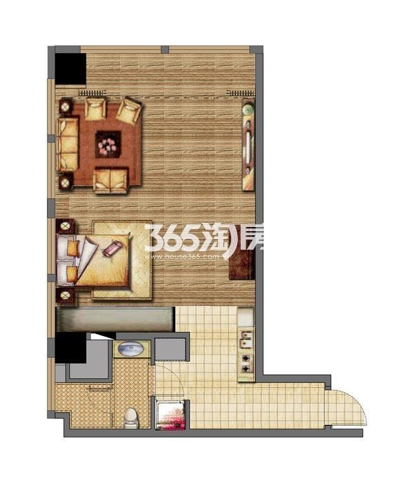 无锡恒大财富中心公寓A2-2楼户型图