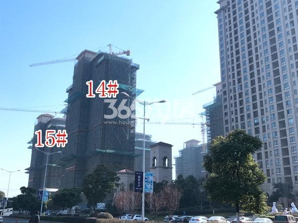 长泰国际社区高层14#、15#楼实景图(2017.12 摄)