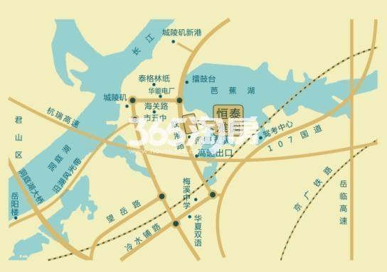 芭蕉湖恒泰雅园二期项目交通图