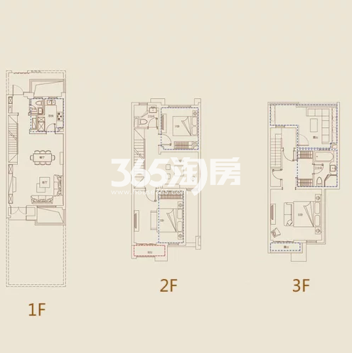 C1户型, 联排别墅