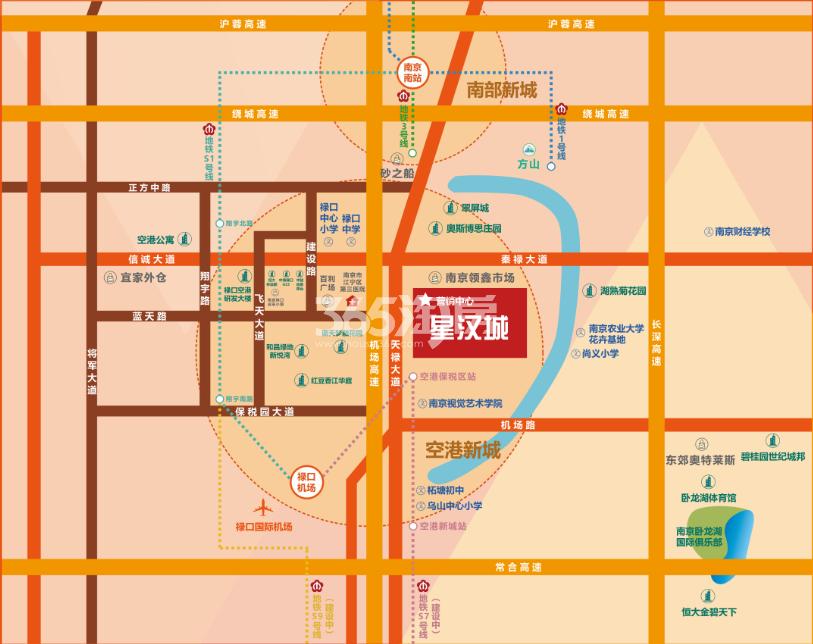 星汉公寓交通图