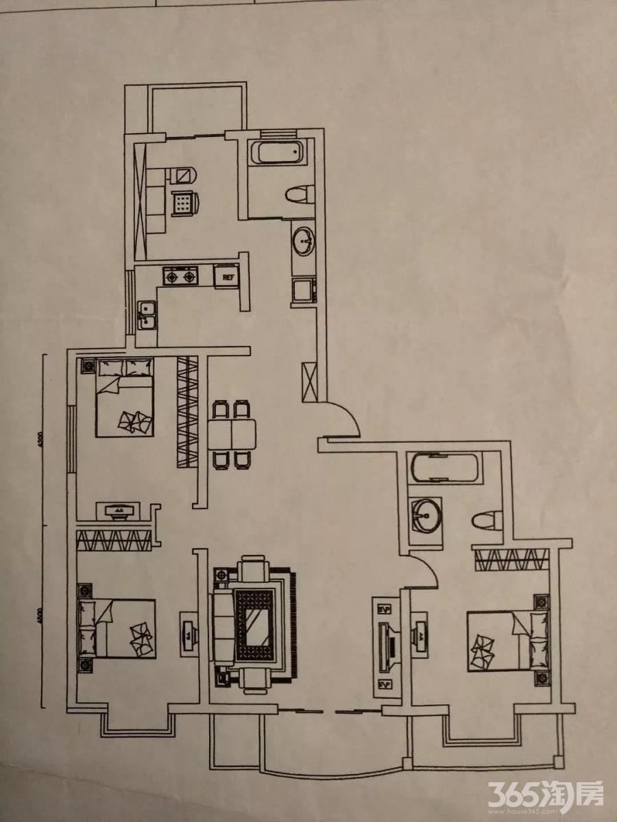 置信雅苑4室2厅2卫125.88平方产权房简装