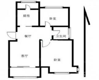 中海塞纳丽舍西苑2室2厅1卫92平米精装整租