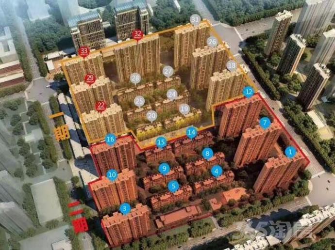 金科城3室2厅1卫88.79平米2017年产权房精装