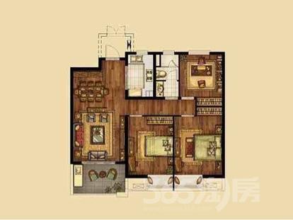 海峡城3室2厅1卫116平米整租豪华装