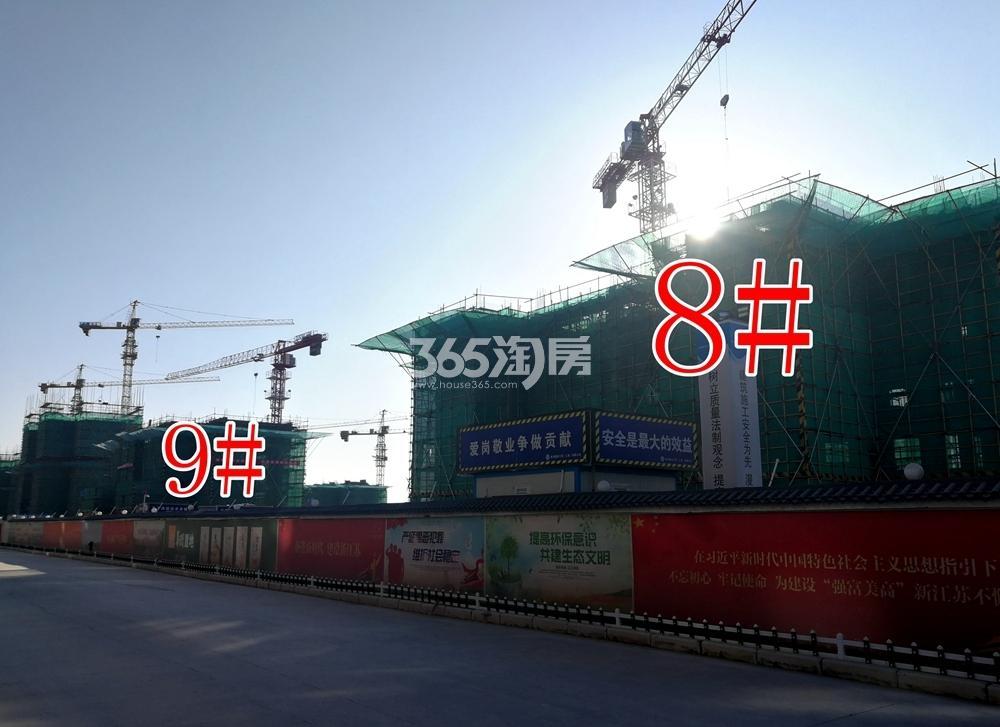 华润置地公元九里8、9#工地实景图(2.27)