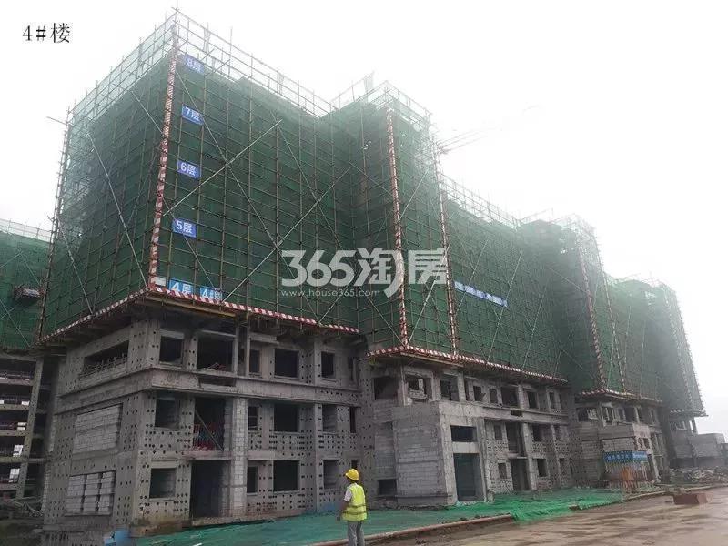 鸿坤理想湾4#楼实景图(2018.7 摄)