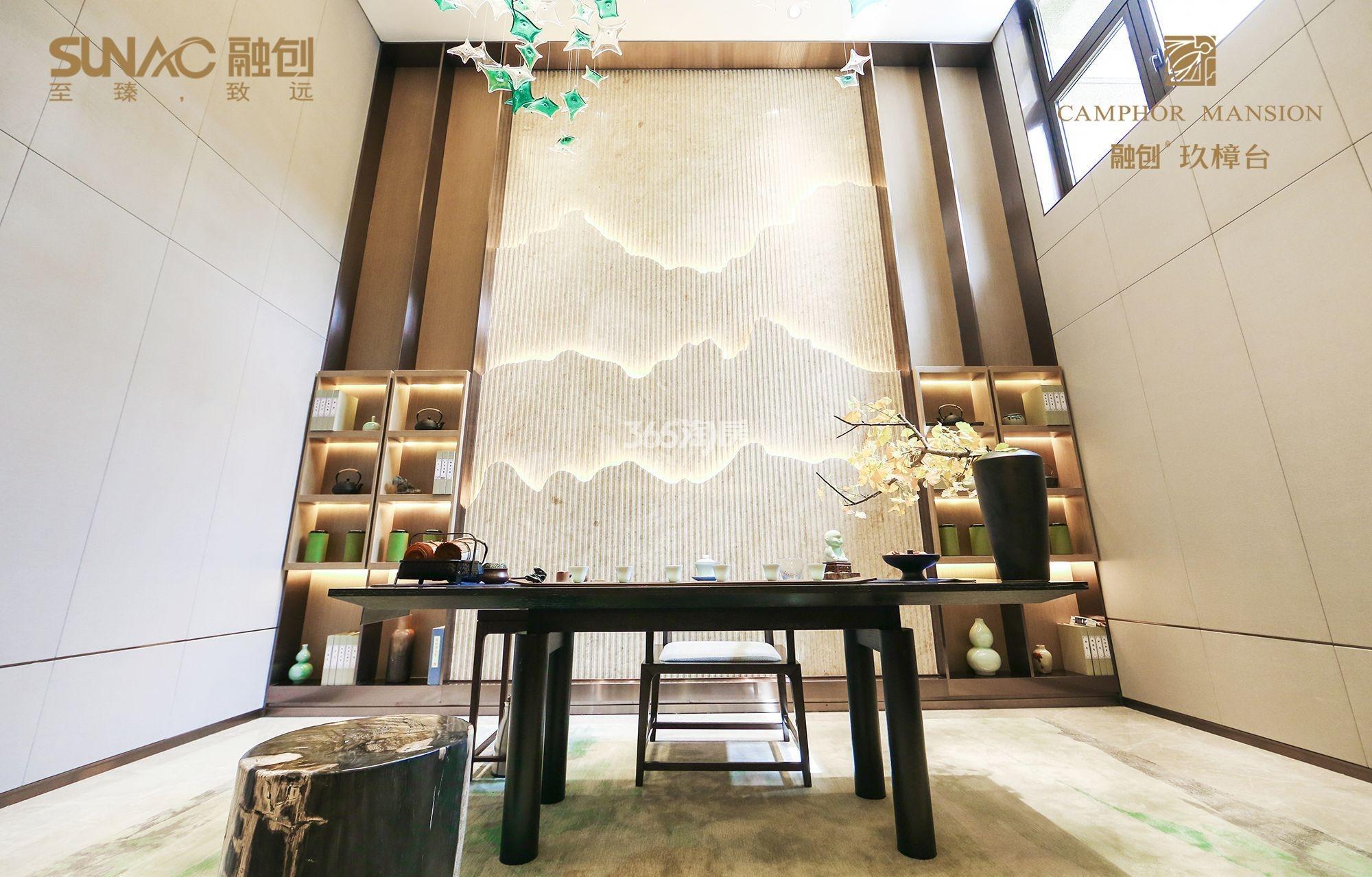 融创玖樟台售楼部一角实景图(2018.4.4)