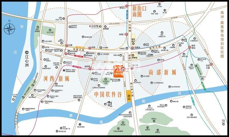 禹洲嘉荟星岛交通图