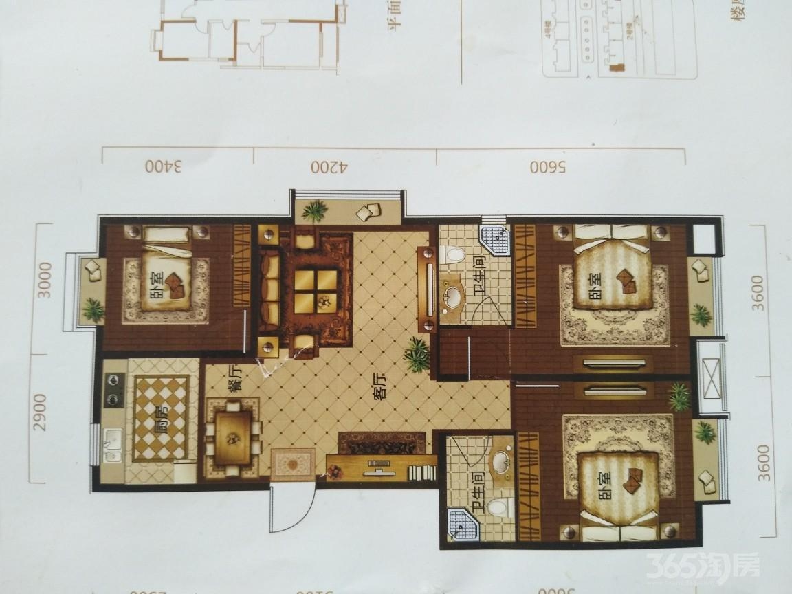 金水湾3室2厅1卫111.79平米2015年产权房毛坯
