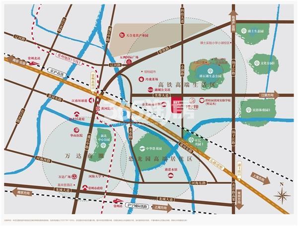 碧桂园百兴澜庭交通图