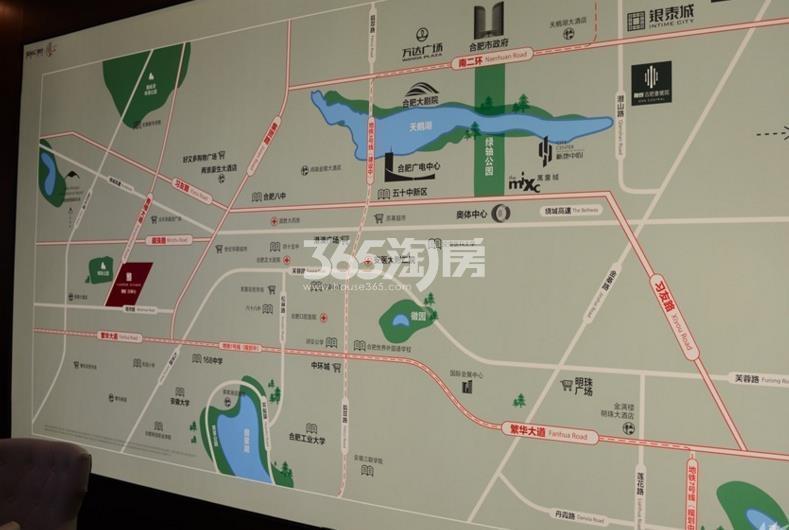 融创玖樟台售楼部区位展示实景图(2017.12.25)