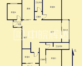 急售 元一美邦国际 精装四房两厅两卫 市政供暖 无税